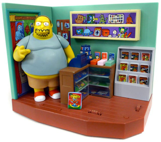"Simpsons (TV) – World of Springfield – Wave 4 – Android's Dungeon Comic Book Shop Environment Playset with Comic Book Guy Interactive 5"" Figure"