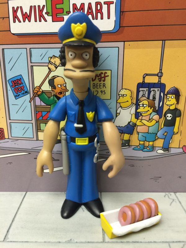 "Simpsons (TV) – World of Springfield – Wave 7 – Officer Lou Interactive 5"" Figure"