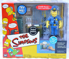 "Simpsons (TV) – World of Springfield – Wave 9 – Springfield Police Station Environment Playset with Officer Eddie Interactive 5"" Figure"