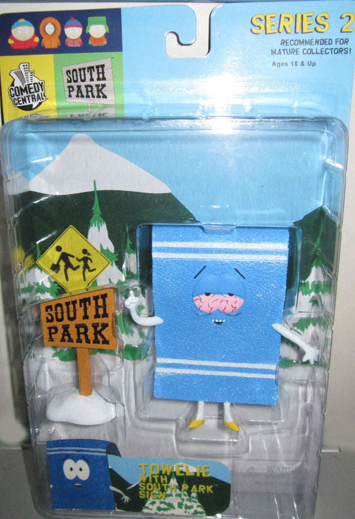 "South Park (TV) – Series 2 – Towelie 5"" Figure with South Park Sign"