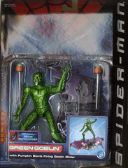"Spider-Man (Film) – Series 2 – Green Goblin 6"" Figure with Pumkin Bomb Firing Goblin Glider"