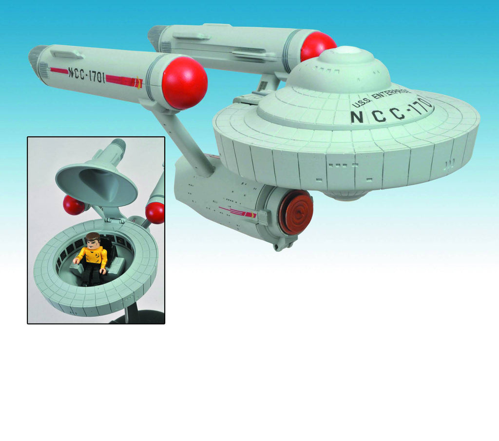 Minimates – Star Trek: Original Series (TV) – Enterprise NCC-1701 with Captain Kirk
