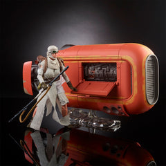 "Star Wars: The Black Series – Deluxe Figure – Rey (Scavenger) 6"" Figure and Rey's Speeder Vehicle (Episode VII)"