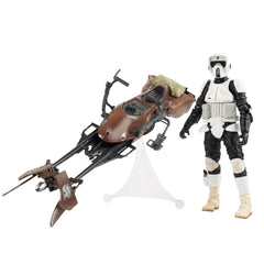 "Star Wars: The Black Series – Deluxe Figure and Vehicle 01 – Imperial Stormtrooper 6"" Figure on Speederbike Vehicle (Episode VI)"