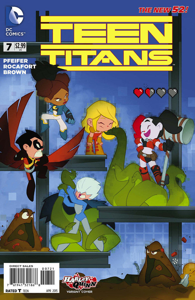 "Teen Titans (2014 Series) #7 (Variant ""Harley Quinn"" Cover - Sean ""Cheeks"" Galloway)"