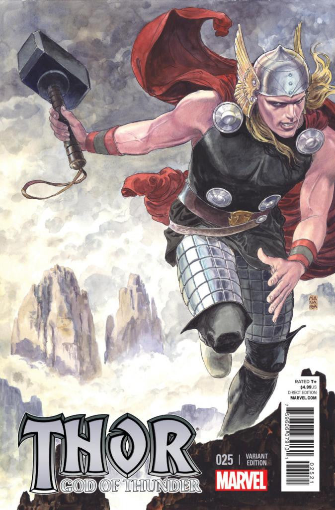 Thor; God of Thunder (2012 Series) #25 (Variant Incentive Cover - Milo Minara)