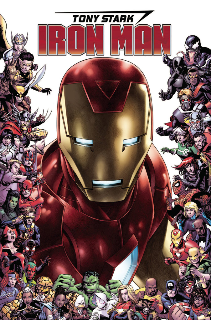 "Tony Stark; Iron Man (2018 series) #15 (Variant ""Marvel 80th Anniversary Frame"" Cover - Jim Cheung)"