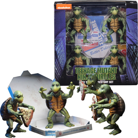 "Teenage Mutant Ninja Turtles (1990 Film) – TMNT 1:4 Scale Series – Baby Turtles Deluxe 4"" Figures Box Set"