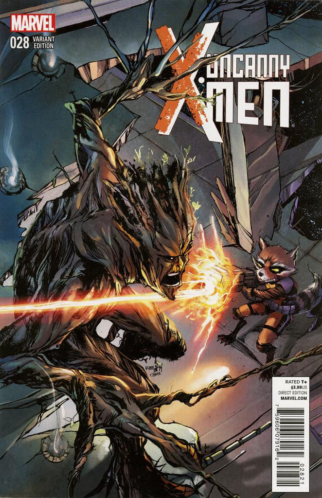"Uncanny X-Men (2012 Series) #28 (Variant ""Rocket Raccoon & Groot"" Cover - Ariela Kristantina)"