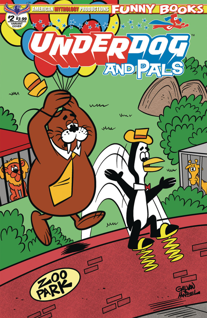 "Underdog & Pals (2018 mini-series) #2 (of 3) (Variant B ""Over the Wall"" Cover - Bill Galvan)"