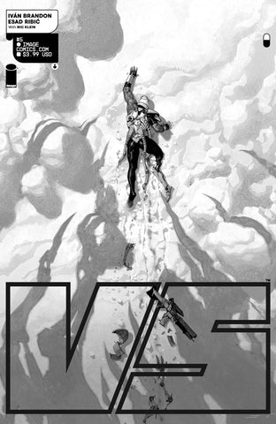 VS. (2017 mini-series) #5 (of 5) (Variant C B&W Cover - Esad Ribic)