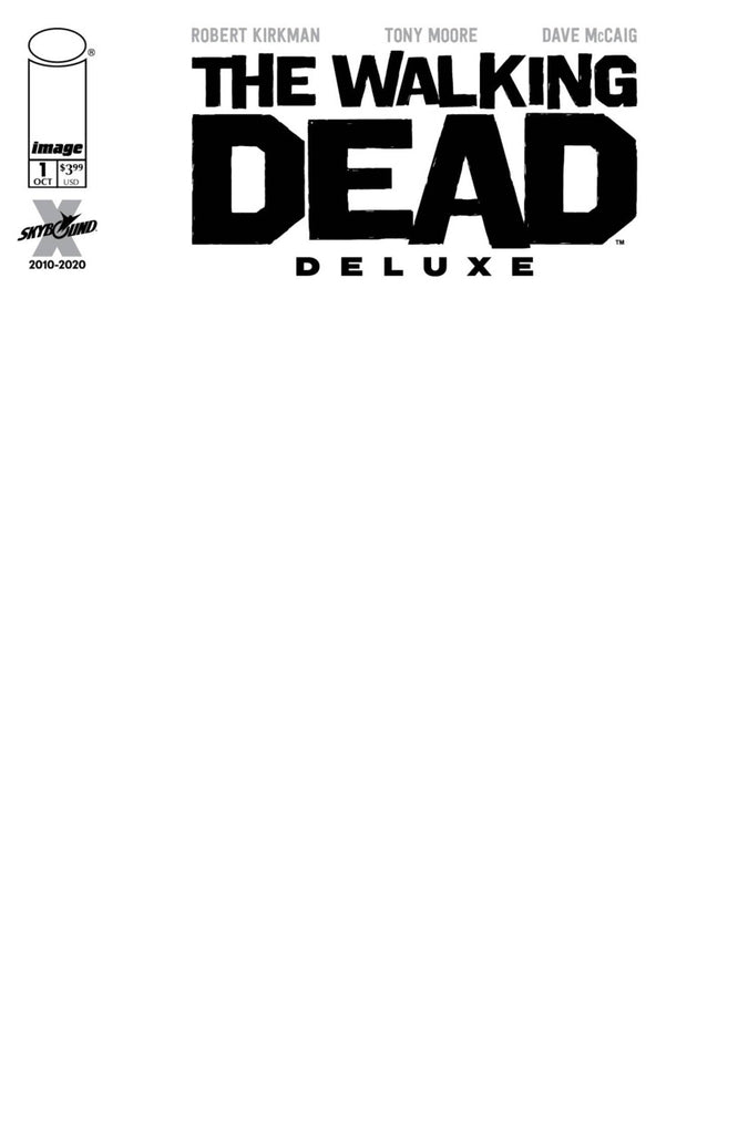 "Walking Dead Deluxe (2020 series) #1 (Variant ""F"" Cover - Blank)"