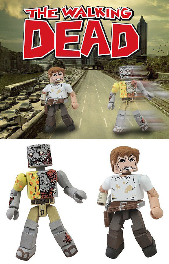Minimates – Walking Dead: Rick & Zombie 2-Pack (SDCC 2012 Exclusive)