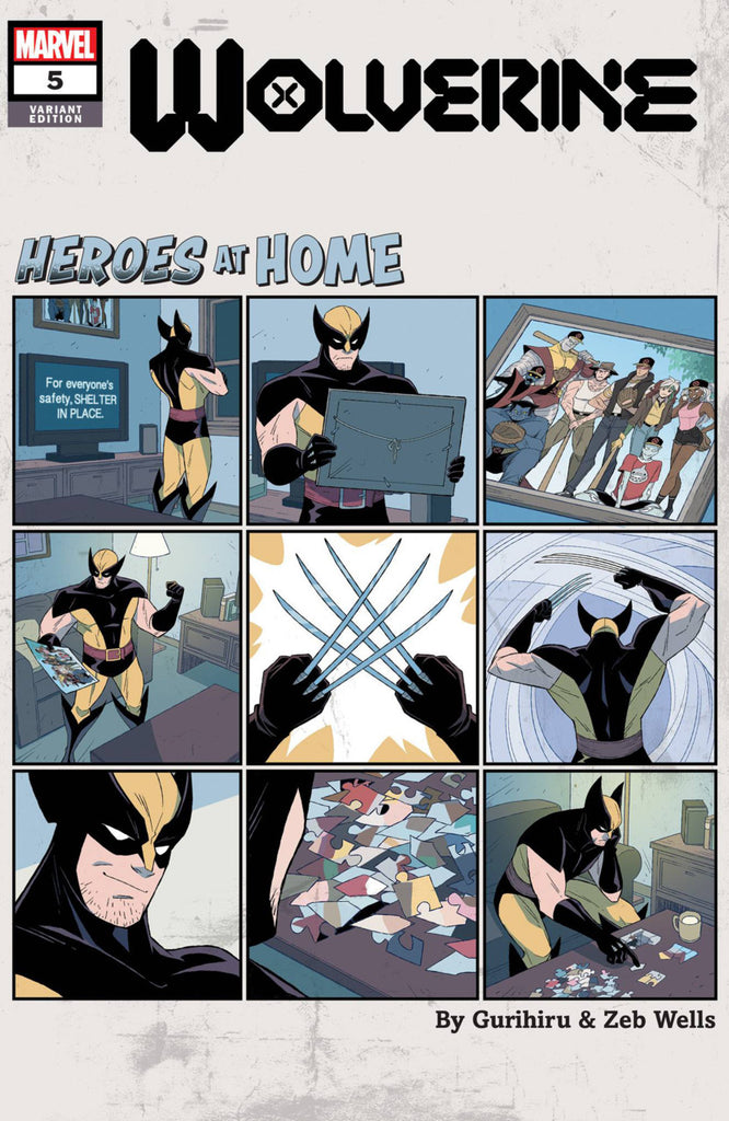 "Wolverine (2019 series) #5 (Variant ""Heroes at Home"" Cover - Gurihiru)"