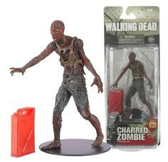 "Walking Dead (TV) – Series 5 – Charred Zombie 6"" Figure with Gas Gun"