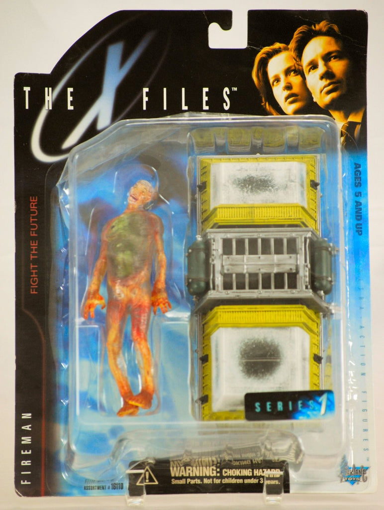 "X-Files: Fight the Future (Film) – Series 1 – Fireman 6"" Figure with Freezer"