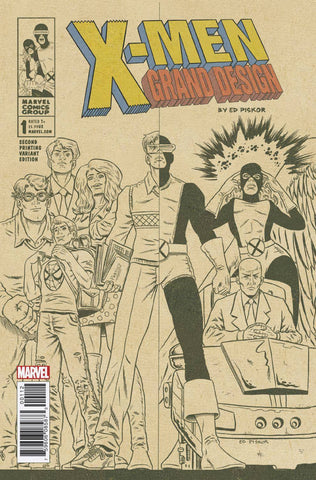 X-Men; Grand Design (2017 mini-series) #1-2 [SET] — American History X (Variant 2nd Printing Cover - Ed Piskor)