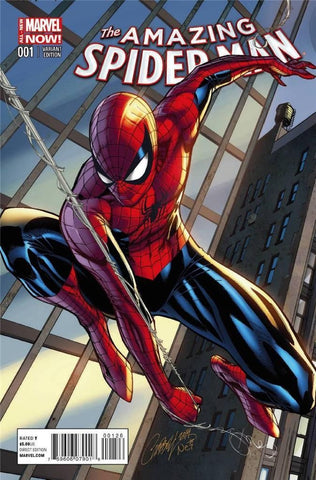 Amazing Spider-Man (2014 Series) #1 (Variant Connecting Cover - J. Scott Campbell)