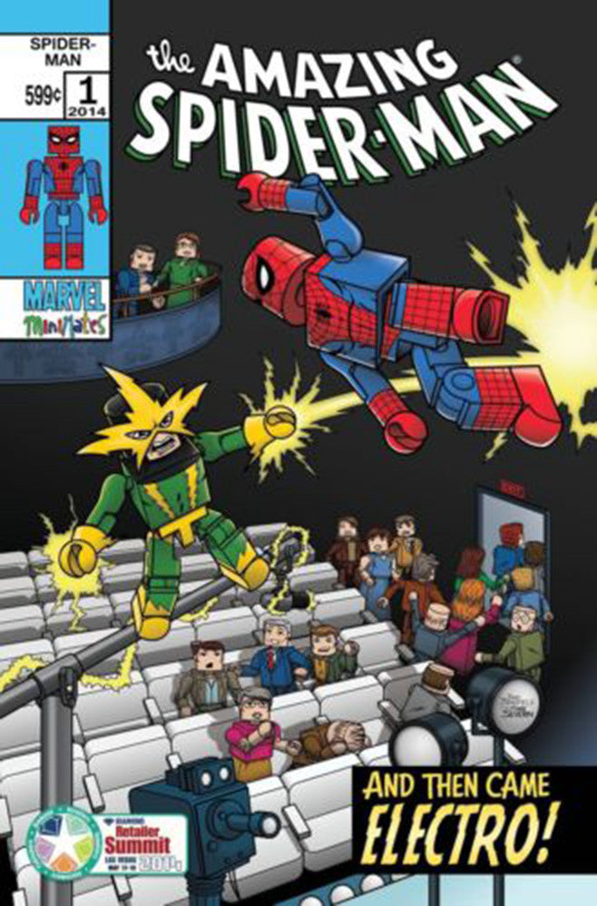 "Amazing Spider-Man (2014 Series) #1 (Variant ""DCD Summit 2014"" Cover - MiniMates)"