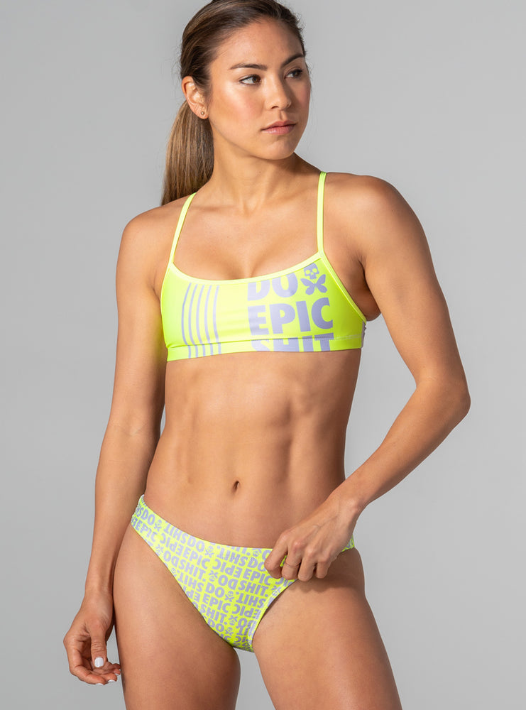 Do Epic Shit 3.0 Neon Bikini Top