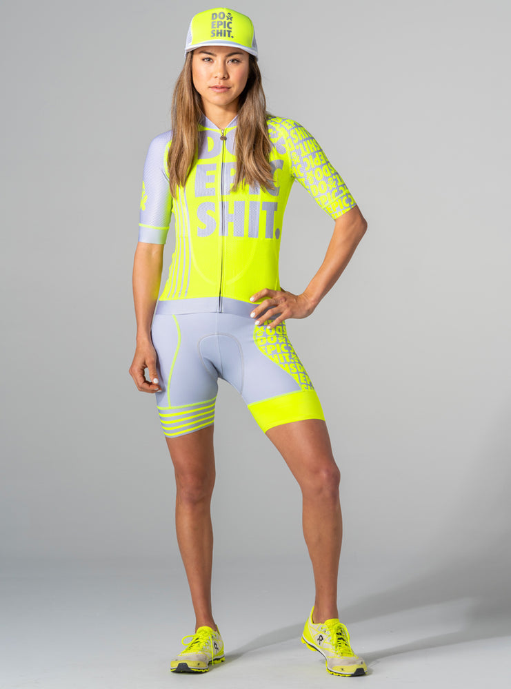betty designs do epic shit neon cycling jersey
