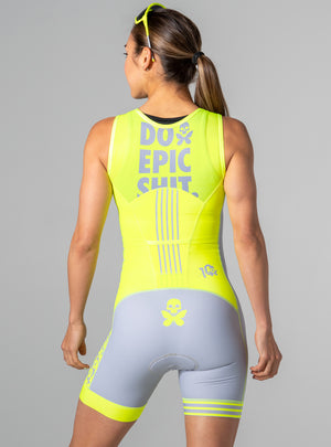 betty designs do epic shit neon trisuit