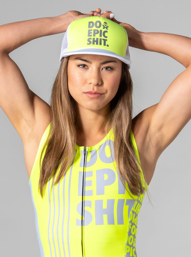 betty designs do epic shit neon trucker