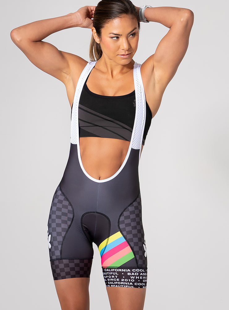 Chevron Cycle Bib Short