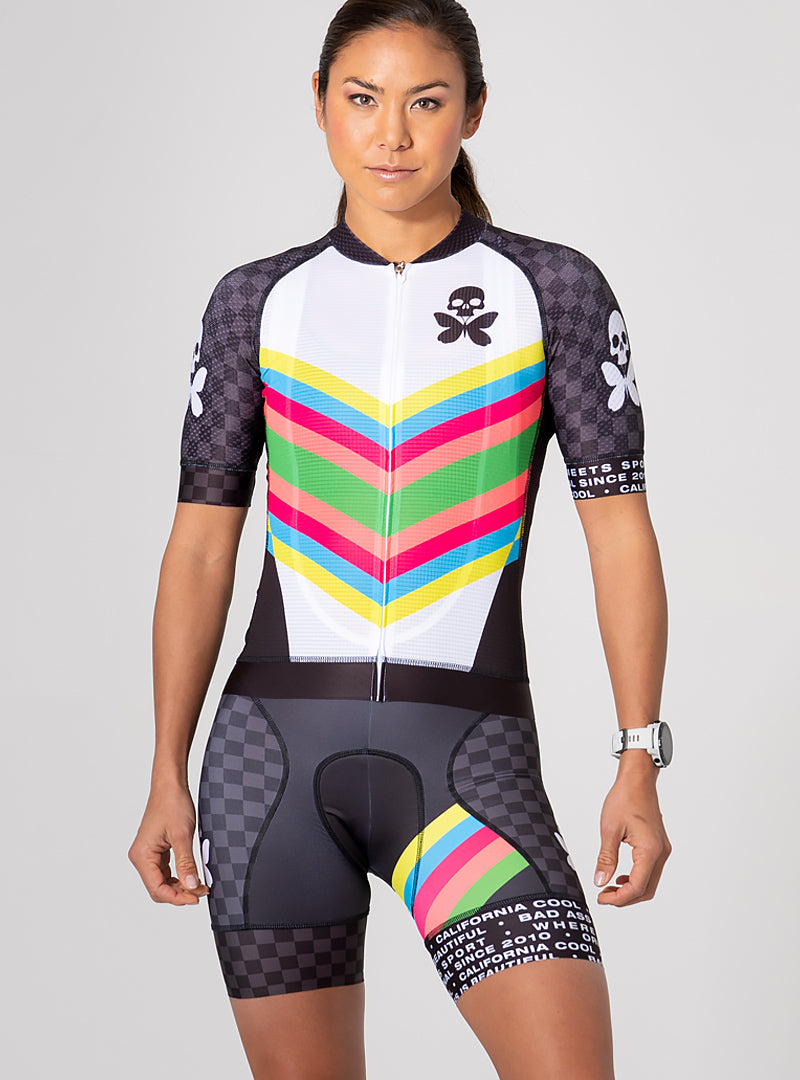 Chevron Race Fit Cycle Jersey