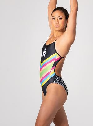 betty designs chevron sexy back swimsuit