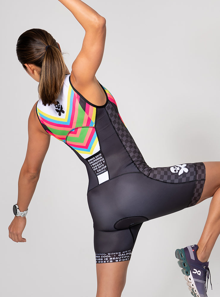 Chevron Sleeveless Trisuit
