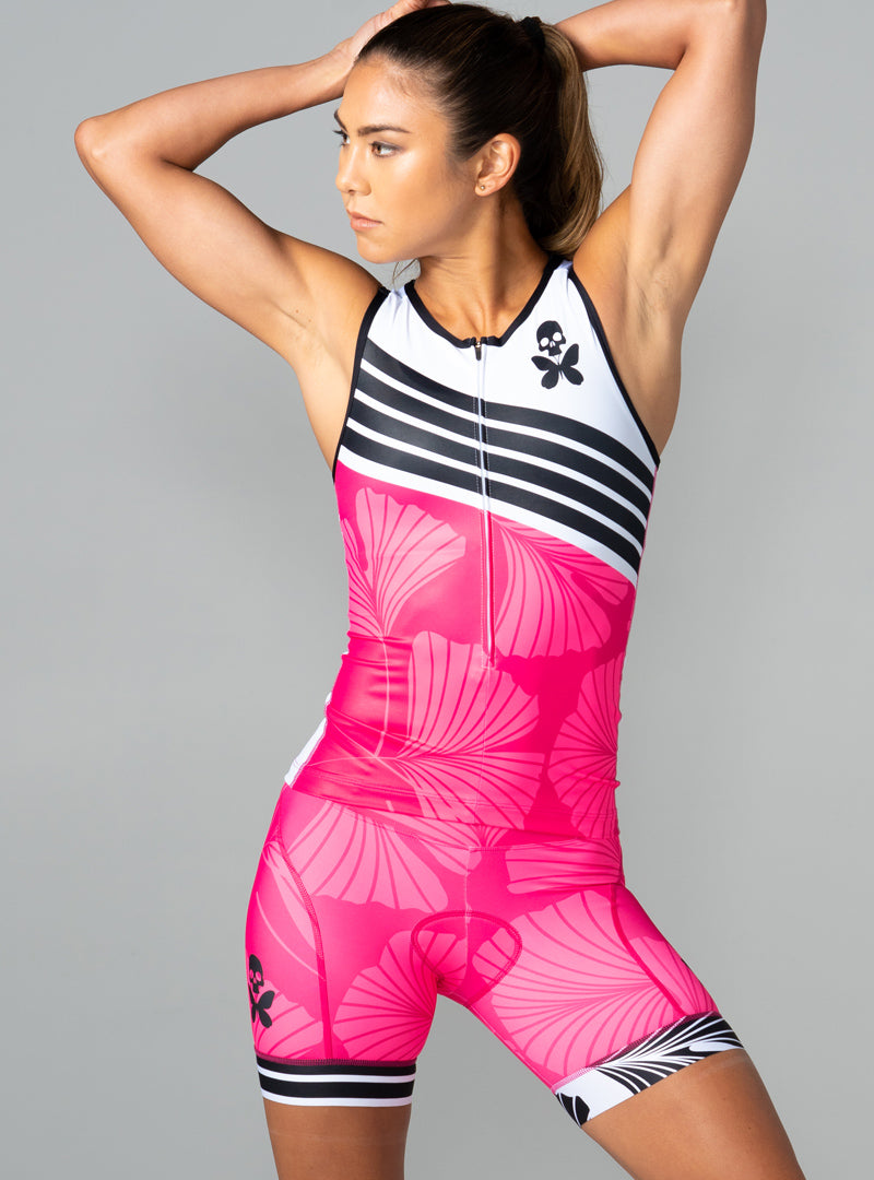 betty designs ginkgo tri top tri shorts