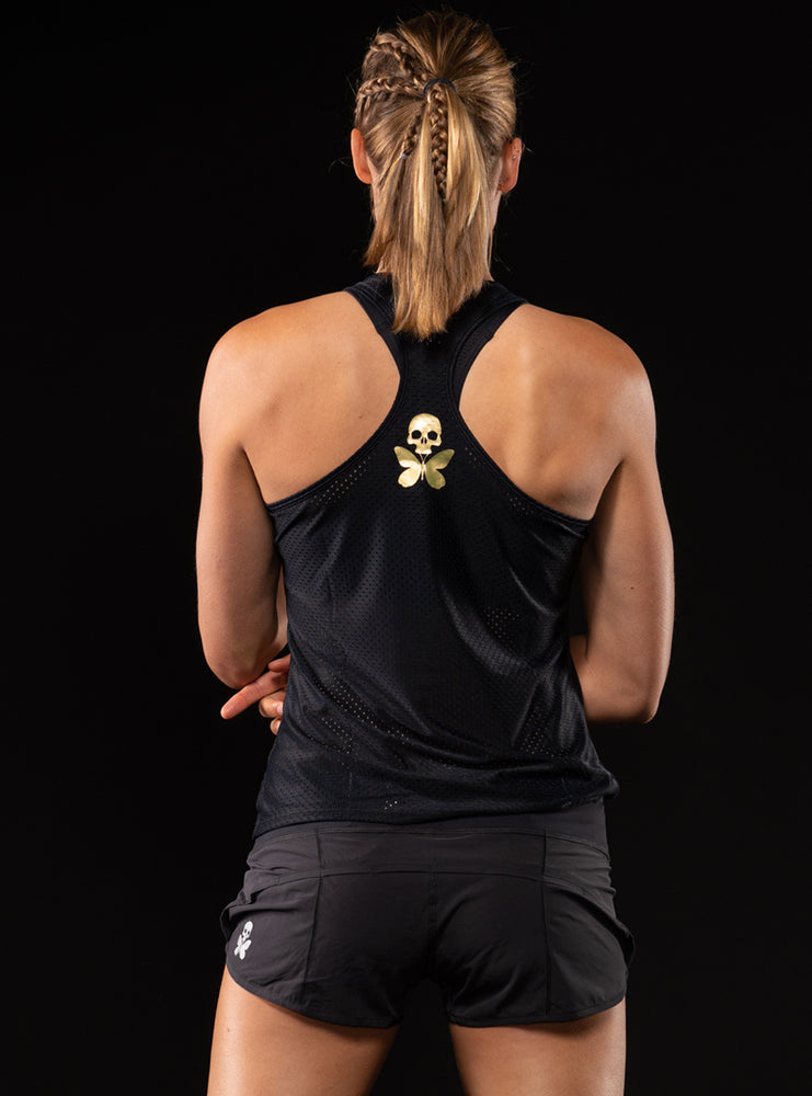 Luxe Black Racerback Run Tank
