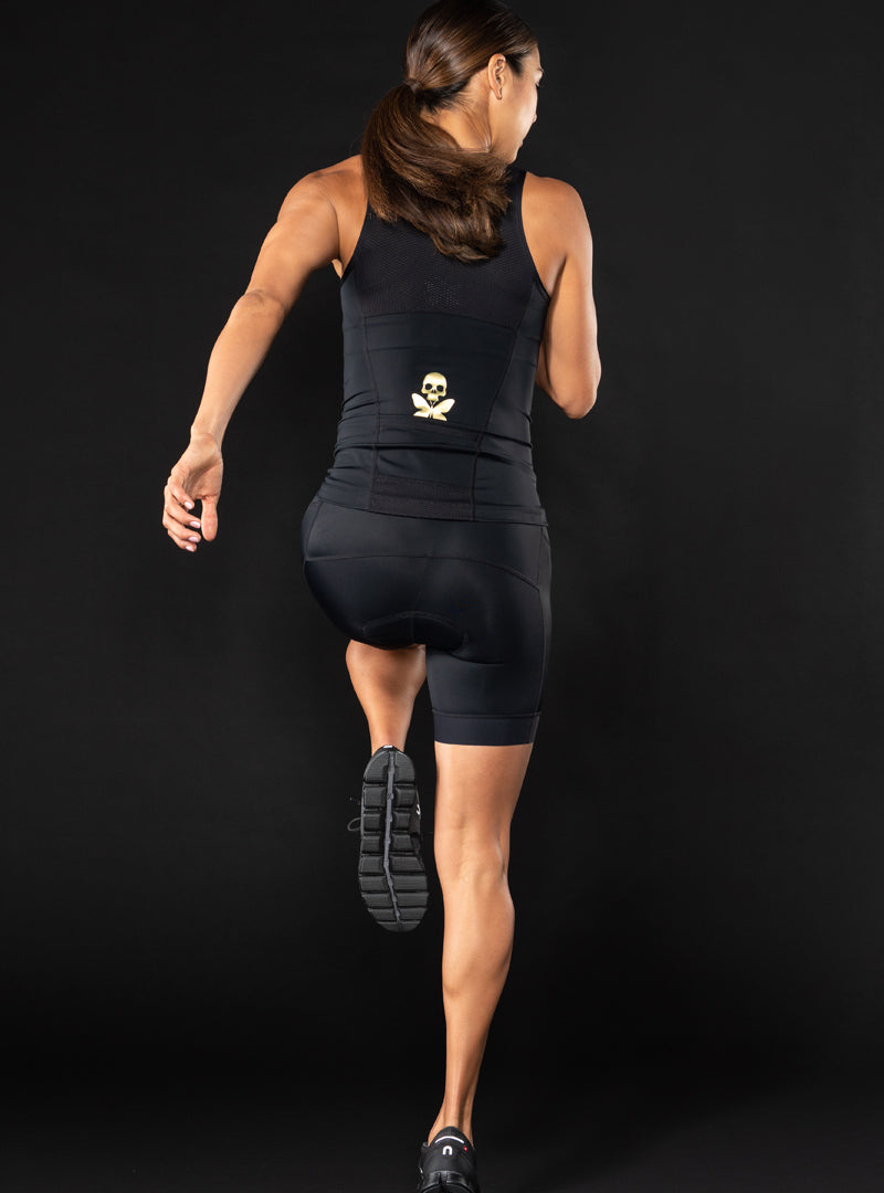 Luxe Black Tri Top