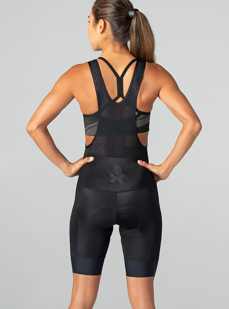 betty designs luxe onyx bib short
