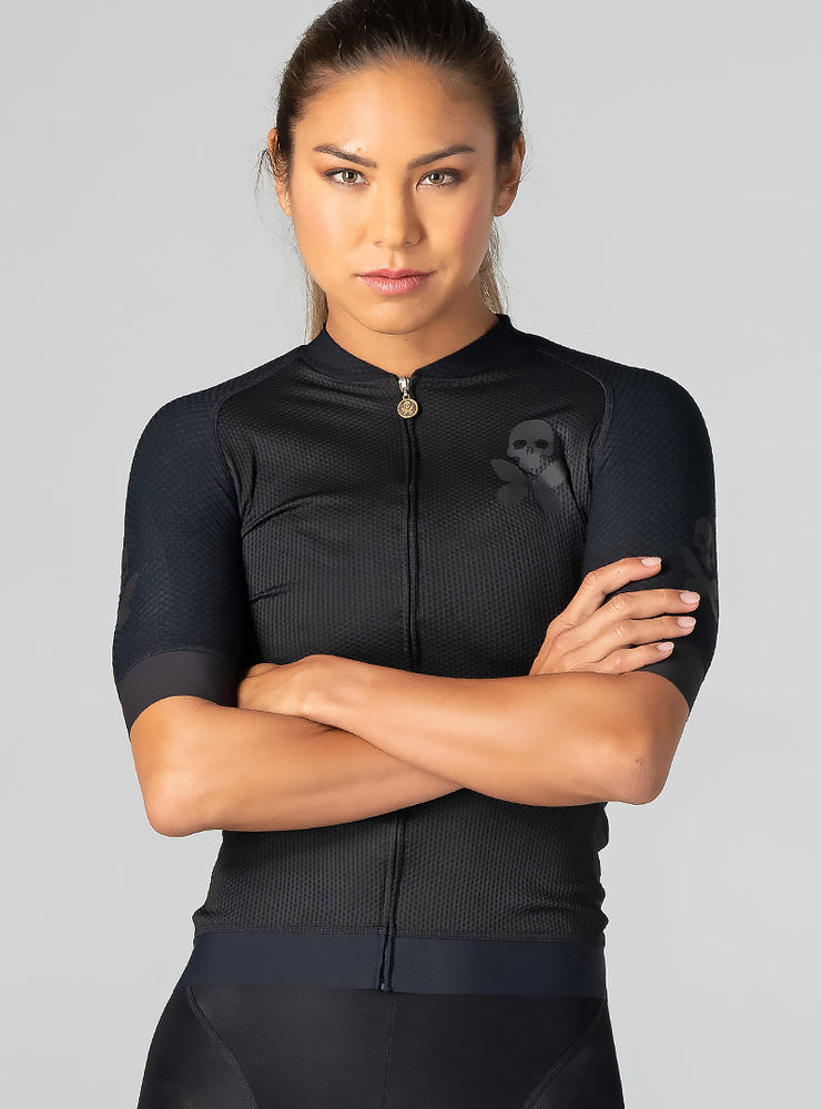 betty designs luxe onyx cycle jersey