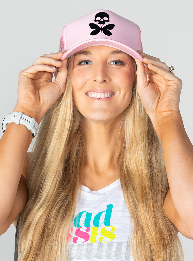 Retro Foam Trucker Pale Pink Edition