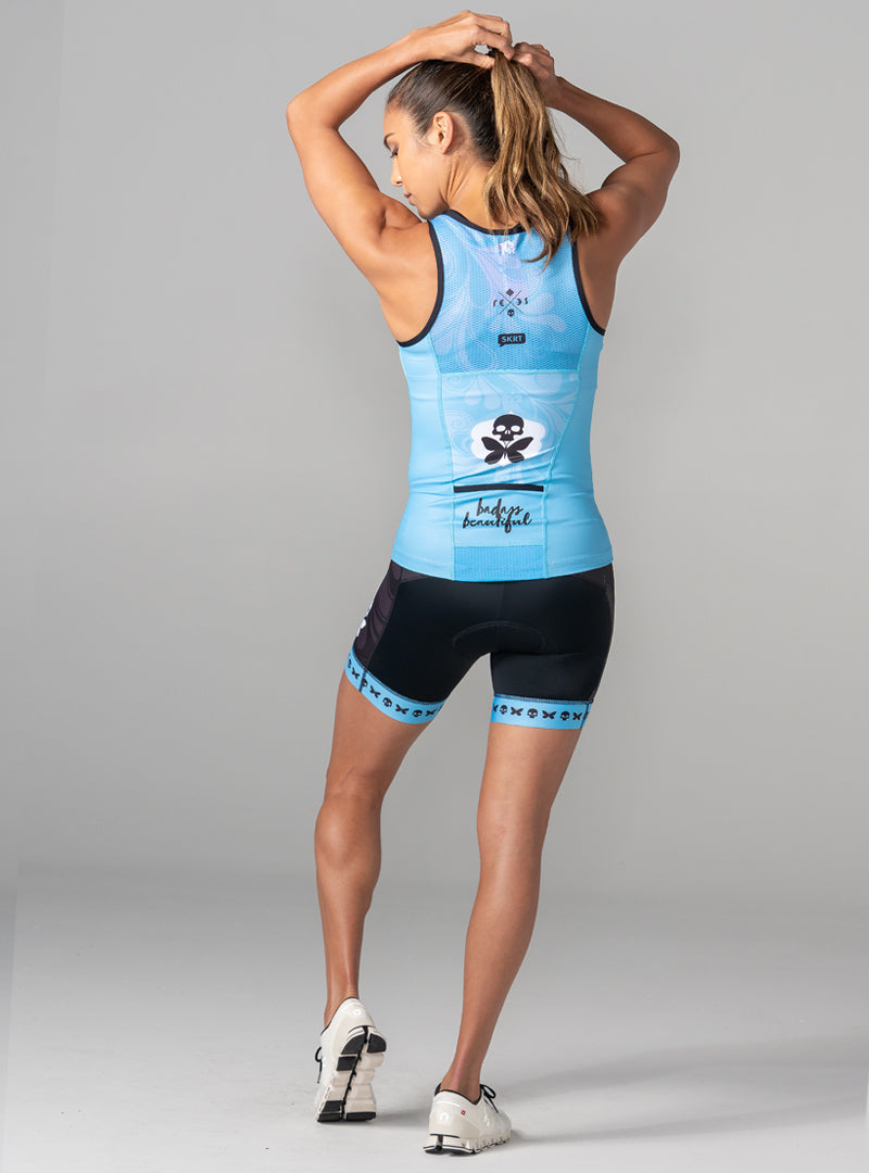 betty designs signature X tri top tri short