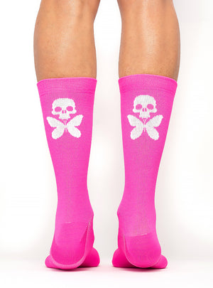 Signature Compression Socks Pink