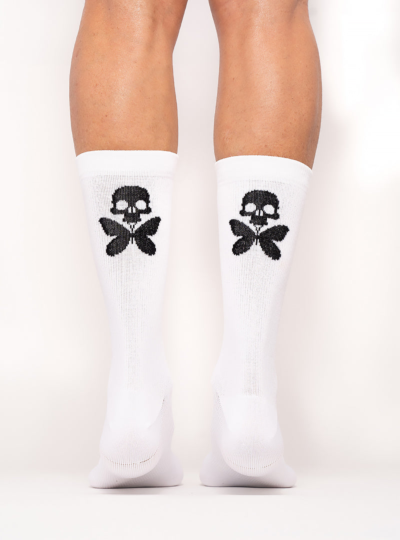 Signature Compression Socks White