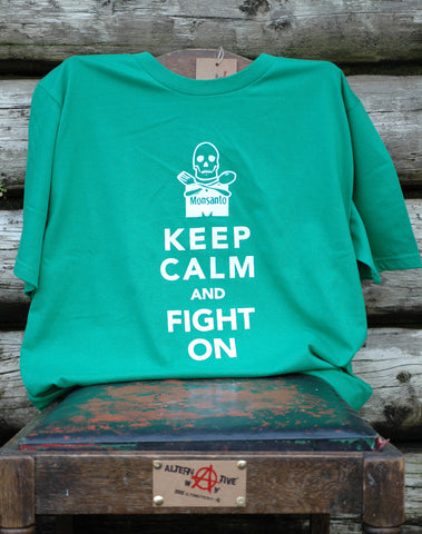 Keep Calm and Carry On Organic T-shirt