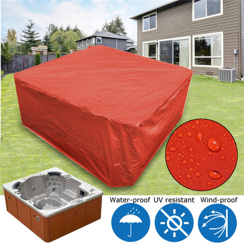 UV Proof Waterproof Spa Covers Cap Red