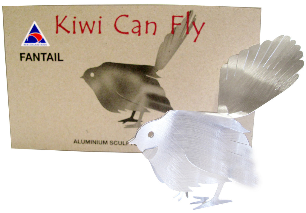 Kiwi Can Fly Postcard - Fantail