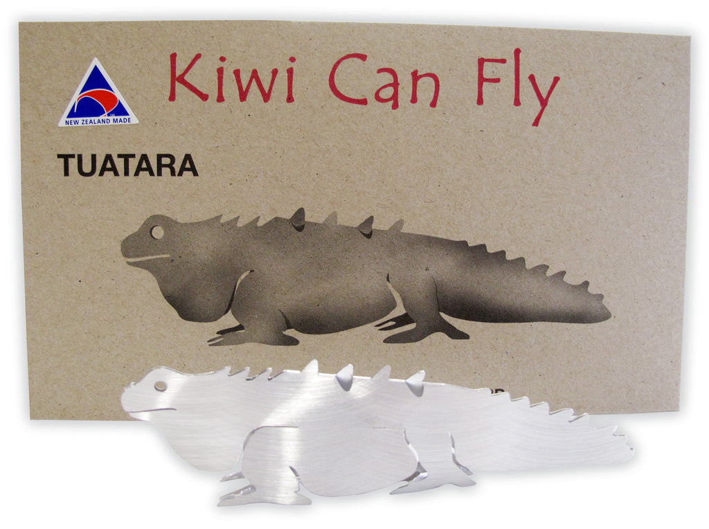 Kiwi Can Fly Postcard - Tuatara