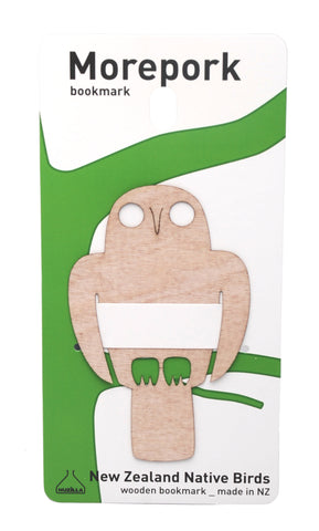 Wooden MOREPORK Bookmark