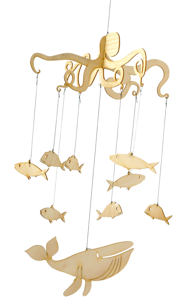 Sea Creatures Mobile (wooden)