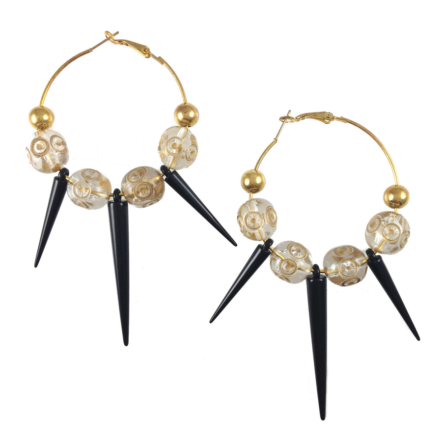 Farrah Gold Vintage Spike Earrings - As Seen in Factice Magazine
