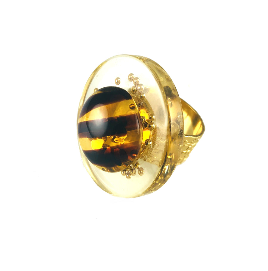 MIzDragonfly Jewelry Vintage Juno Tiger Eye Ring Angle