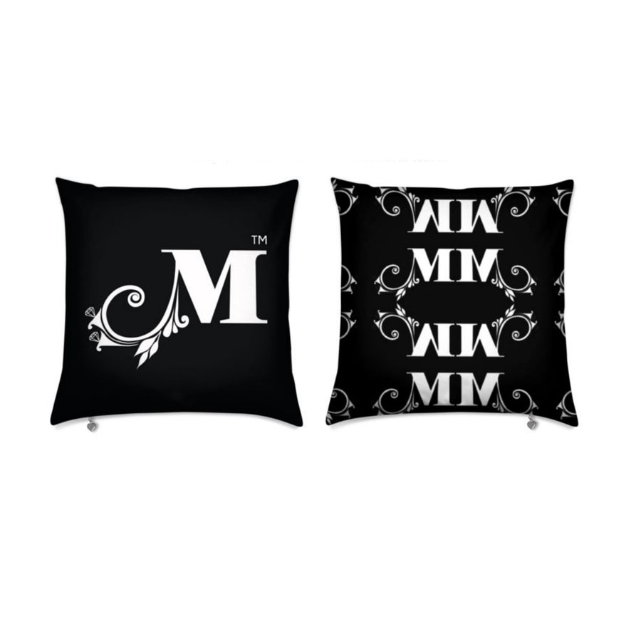 MizDragonfly Decorative Velvet Pillow Cushion Monogram Front Back