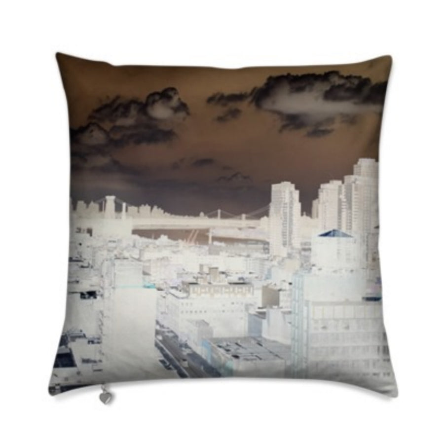 MizDragonfly Decorative Velvet Pillow Cushion Skyline Gallery